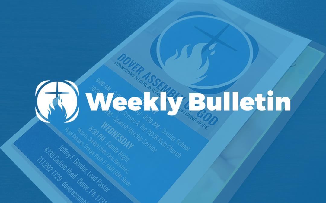Weekly Bulletin – 1.20.2019