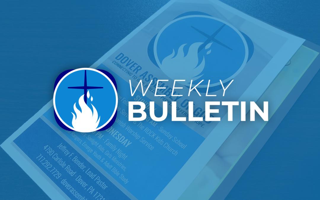 Weekly Bulletin – 12.6.2020